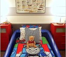 vroom vroom toddler room, bedroom ideas, home decor, The blue car bed