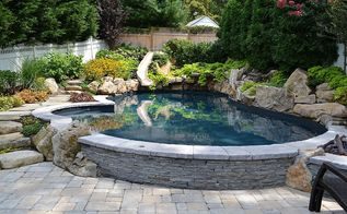 long island pool and spa awards just announced deck and patio company is honored, outdoor living, patio, ponds water features, pool designs, spas, Vinyl Freeform Gold True Blue Pools and Deck and Patio Company
