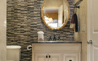 5 things to know about marble and mosaic tile before you buy, bathroom ideas, tiling, This small powder room features marble tile and marble mosaics Hand carved and custom made mirror is complemented by the elegant and luxurious light fixture