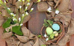 easiest spring burlap wreath, seasonal holiday d cor, wreaths