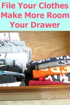 folding and organizing clothes drawer to make more room, organizing, Learn to fold and file your items to make more room in your clothes drawers Quick no cost tips