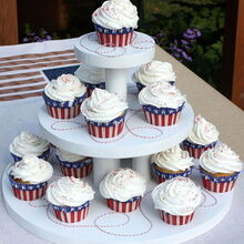 diy cupcake stand, crafts, seasonal holiday decor