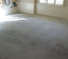 garage floors one home improvement that makes a difference every single day, flooring, garages, home decor, The original garage Dull dingy and lifeless It also allowed for a lot of dirt to come inside