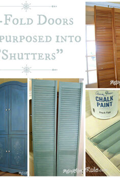 bi fold doors re purposed to shutters annie sloan chalk paint, chalk paint, painted furniture, Bi fold doors turned into shutters for my family room french doors