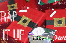 diy wrap it up like santa, christmas decorations, crafts, seasonal holiday decor, Christmas is only 10 days away Time to get wrapping
