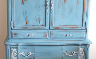 fabulous blue features from a past anything blue friday party, painted furniture, seasonal holiday decor, Lovely furniture makeover from