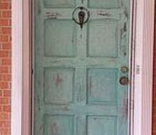 patina front door with annie sloane chalk paint on outside, chalk paint, doors, painting