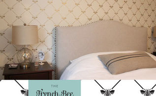 stencil decor to adore french inspired stenciling ideas, painted furniture, wall decor, French Bee Trellis Stencil