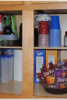 simple cabinet organization, kitchen cabinets, kitchen design, organizing, lower cabinet