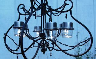 solar chandelier, lighting, outdoor living