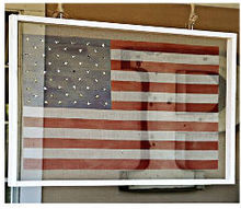 easy to make screen flags, crafts, outdoor living, patriotic decor ideas, porches, seasonal holiday decor