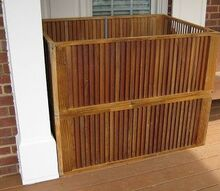 outdoor storage created from discarded wooden slatted doors, outdoor living, repurposing upcycling, Storage box made from discarded motel closet doors