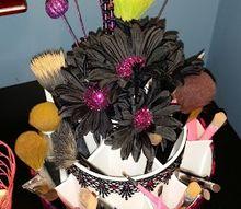 diy makeup brush holder, crafts, wreaths