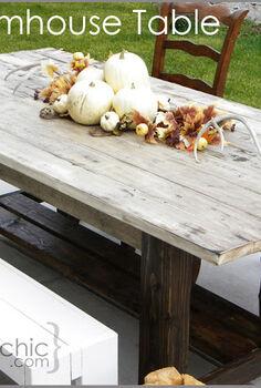 outdoor farmhouse table, outdoor furniture, outdoor living, painted furniture, patio, DIY Farmhouse Table