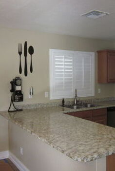 i finished painting my kitchen countertops this weekend, countertops, painting