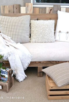 pallet paradise, pallet projects, A Pallet Sofa This is by Funky Junk Interiors Donna Not only is this built from pallets she did this completely on her own w out any plans