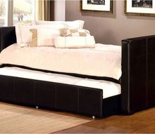 marcella backless leather daybed with trundle, Marcella Backless Leather Daybed with Trundle