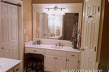 how to transform a builder s grade mirror, bathroom ideas, home decor, The Final Product