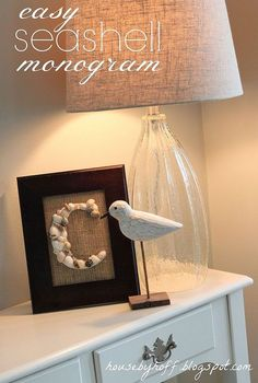 diy seashell monogram, crafts, The finished seashell monogram