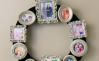 photo frame wreath, crafts, home decor, repurposing upcycling, wreaths, Wreath After Shot