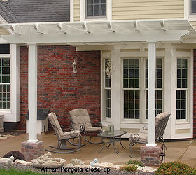 My Pergola On My Backyard Patio, Curb Appeal, Outdoor Living, Patio
