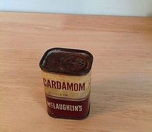 vintage mclaughlin s spice tin, repurposing upcycling