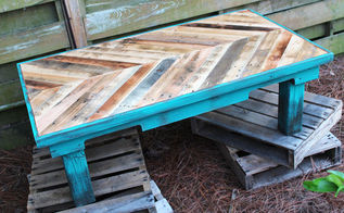 pallet wood coffee table, diy, pallet, woodworking projects, Painted with Annie Sloan Chalk Paint color Florence