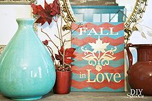 easy chevron fall art, crafts, seasonal holiday decor