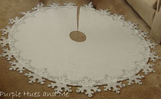 snowflake tree skirt diy, crafts, seasonal holiday decor, to make an awesome snowflake tree skirt that will compliment any decorative holiday scheme