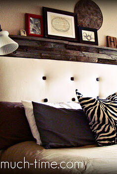 old fence turned into a headboard, repurposing upcycling, woodworking projects, Rustic but still cozy