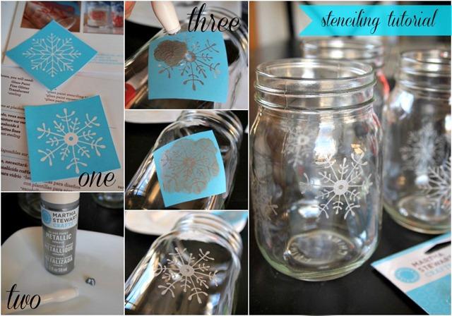 White christmas mason jar luminaries hometalk for Christmas glass jars
