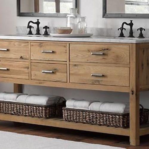 Bathroom Vanity Reclaimed Wood reclaimed wood bathroom vanity | hometalk