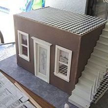 my hobby is miniature dollhouses this is my french caf, crafts, The start of my paris cafe