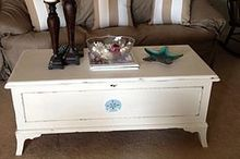 old dillingham cedar chest now beach cottage chic, painted furniture, AFTER pic