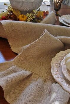 make your own burlap table runner just in time or fall a complete tutorial with, crafts, home decor, I ve included a step by step tutorial with detailed instructions