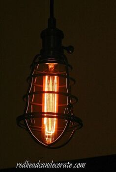 vintage light bulbs make the difference, lighting, Light fixture from Home Depot looks so cool with the tube vintage light bulb