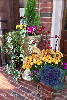 tgif thank god it s fall y all part 2 gardenchat falldecor, container gardening, gardening, seasonal holiday d cor, Friends come calling and this is what they ll find at the front door