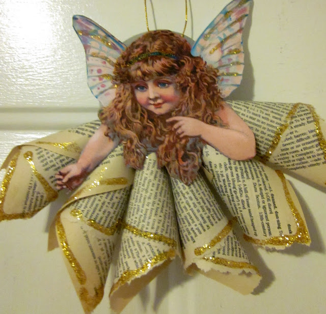 Christmas Ornament Angels From Office Supplies: Vintage Angel Ornaments