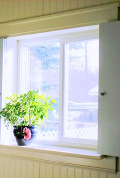 diy shutters for 40, windows, Installed so that the shutters fold back and frame the window without blocking any light