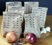 great tip on how to store onions shallots and garlic for months, gardening