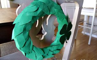 emerald isle diy st patrick s day painted newspaper wreath, crafts, seasonal holiday decor, wreaths