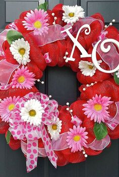 new year new wreaths, crafts, seasonal holiday decor, valentines day ideas, wreaths, Valentine s Day wreath that s full of happiness