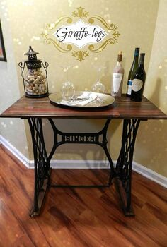 singer sewing machine table, diy, painted furniture