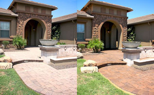 cleaning and sealing pavers, cleaning tips, concrete masonry, Paver Walkway Entry before and after being cleaned and sealed
