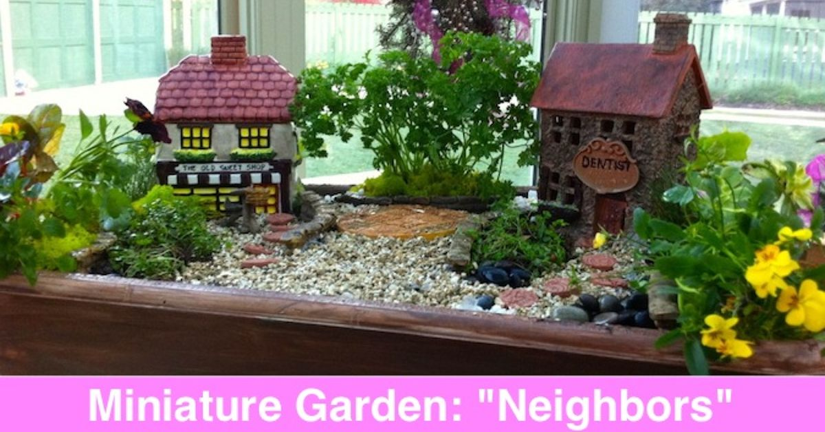 Miniature and fairy garden design ideas by shirley bovshow for Fairy garden decorating ideas