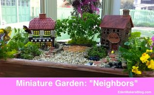 miniature and fairy garden design ideas by shirley bovshow, container gardening, flowers, gardening, home decor, succulents, Themed miniature garden about good neighbors Can you tell what the story is about Look closely