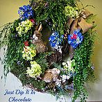 spring wreaths straight from the hanging gardens of babylon, crafts, seasonal holiday decor, Rabbits in the Field Wreath via Lizy