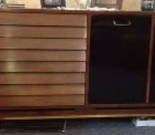 refurbishing 1960 s danish modern dining room set, painted furniture, 1960 s Danish Modern Buffet