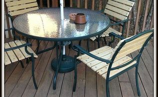 updating the ole patio chairs, outdoor furniture, painted furniture, patio
