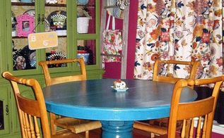 my best of 2012, crafts, painting, Peacock Blue Table w glaze tutorial